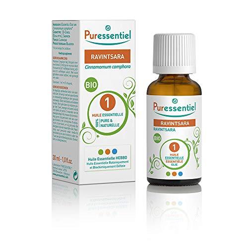 Puressentiel - Huile Essentielle Ravintsara - Bio - 100% pure et naturelle - HEBBD - 30 ml