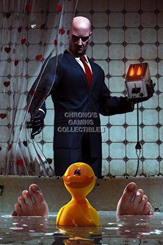 "PremiumPrintsGaming - Hitman Blood Money Perfect Assassination Xbox Poster - YHIT011 Premium Canvas 11"" x 17"" (28 cm x 43 cm)"