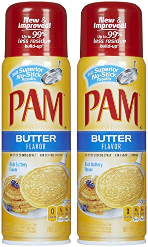 Pam Butter Flavor Cooking Spray-5 Oz-3 Pack