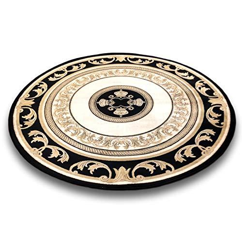 Belle Arti Premium Mäander Pegasus Teppich Rund aus 100% Viskose im Meander Medusa Design Carpet versac (150 x 150cm)