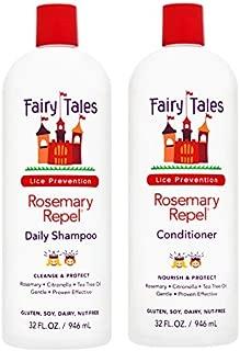 Fairy Tales Rosemary Repel Daily Kid Shampoo (32 Fl Oz) & Conditioner (32 Fl Oz) Duo for Lice Prevention, Combo 2