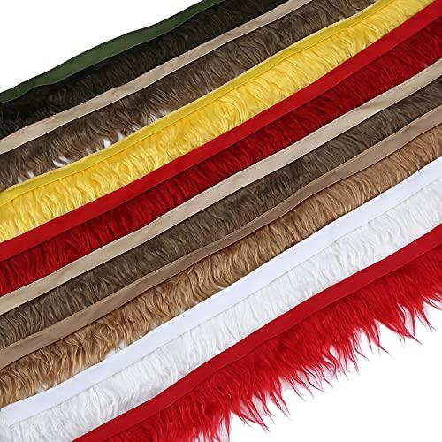 Recorte de piel de dos tonos de calidad de lujo falso falso en el borde de la cinta de satén, Para ribetes de disfraces, manualidades, capuchas y abrigos. Neotrims uk. Taupe, 1 meter