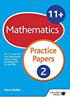 11] Maths Practice Papers 2 by Steve Hobbs(2016-01-29)