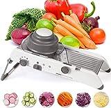 cortador de patatas Veggie máquina de cortar los alimentos - máquina de cortar mandolina Cutter - Cortador de verduras, Mandolina máquina de cortar acero inoxidable vegetal incorporado seguro ajustabl