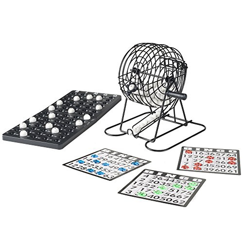 Hey! Play! Complete Bingo Set - Deluxe Classic Carnival and Casino Game for Kids and Adults with Tumbler Cage, Master Board, Sheets and Markers