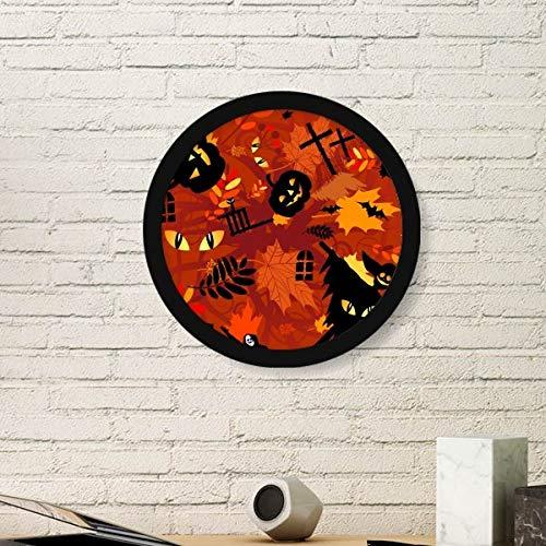 DIYthinker Cartoon Diepe Woud Halloween Ronde fotolijst Art Prints Van Schilderijen Thuis Muursticker Gift