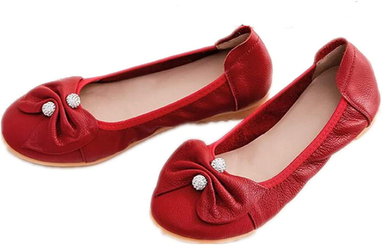 GUJMin Flat shoes Shallow Mouth Casual shoes Women's Commuter Mother shoes Dance shoes