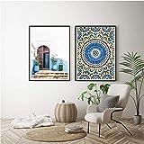 NR Marokko Gebäude Wandkunst leinwand Bilder Malerei