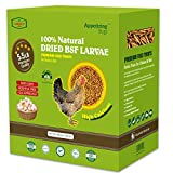 5.5 LBS Dried Black Soldier Fly Larva/Dried Mealworms - 100% Natural...