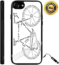 Custom iPhone 7 Case (Bicycle Parts Explained) Edge-to-Edge Rubber Black Cover with Shock and Scratch Protection | Lightweight, Ultra-Slim | Includes Stylus Pen by Innosub