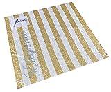 Tovaglioli di carta per il pranzo delle feste, circa 33 x 33 cm, per matrimonio, battesimo, Natale, inverno, goffrati, Elegance Stripes dorato.