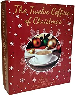 The 12 Coffees, Teas or Cocoas of Christmas (Your Choice) Gourmet Gift Box Set - Best Xmas Present For Friends, Family, Coworkers, or Teachers (Coffee)