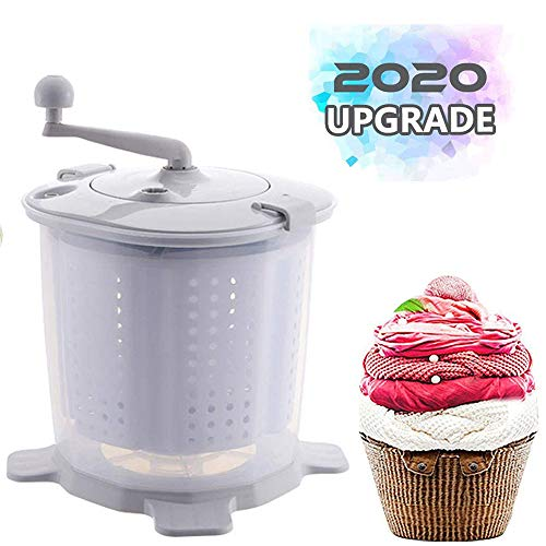Household Products Portable Manual Washing Machine, Non-Electric Compact Manual Washing Machine, Mini Washer and Dryer Combination, Suitable for Dormitory/Apartment/Camping/Recreational Vehicle