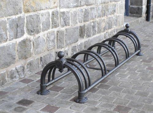 Mottez Versailles - Aparcabicicletas para 5 Bicicletas, Color Negro