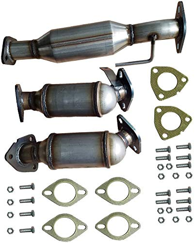 MOTOOS Front Rear Catalytic Converter Exhaust Manifold Compatible with 2009-2017 Buick Chevrolet GMC Saturn Sport Utility 4 Door 3.6L V6(Replacement for Part Number:16574)