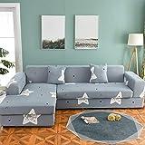 Funda de sofá nórdica, Juego de algodón, Funda de sofá, Funda de sofá elástica para Sala de Estar, sofá Chaise Longue en Forma de L A13, 2 plazas