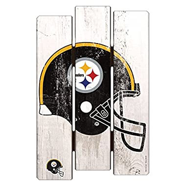 WinCraft NFL Pittsburgh Steelers Wood Fence Sign, 11  x 17