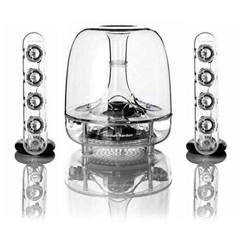 Harman//Kardon Soundsticks III Sistemas de Altavoces de sobremesa Color Transparente LED con 2 Altavoces sat/élite, subwoofer, 3.5 mm