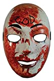 The Purge Television Series Adult Costume Mask | Bloody God Red