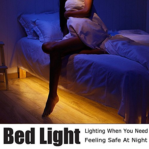 ALED LIGHT Luz de Sensor de Movimiento de 1.2M Luces Brillantes Flexibles de La Noche de La cama de Tira del LED Encienden