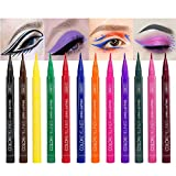12 Colors Matte Liquid Eyeliner Set, Waterproof Superstay Long Lasting Matte Eye Liner Pencil by Rechoo (12 Rainbow Colors)