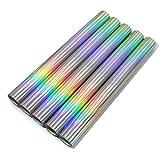 Juego de 5 láminas adhesivas con purpurina, 100 x 33 cm por rollo, holograma brillante, lámina decorativa de vinilo para manualidades