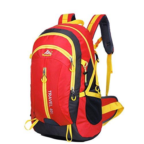 Nouveau voyage sac à dos Sacs bandoulière plein air sacs 40L alpinisme imperméable à l'eau , red