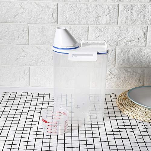 Recipiente de plástico para alimentos secos, caja de arroz, recipiente para cereales de grano, dispensador de arroz, cocina reutilizable para el hogar