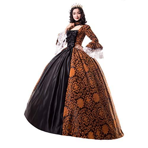 Renaissance Queen Elizabeth I/Tudor Gothic Jacquard Fantasy Kleid Game of Thrones Kleid Halloween Kostüme -  -  XXX-Large