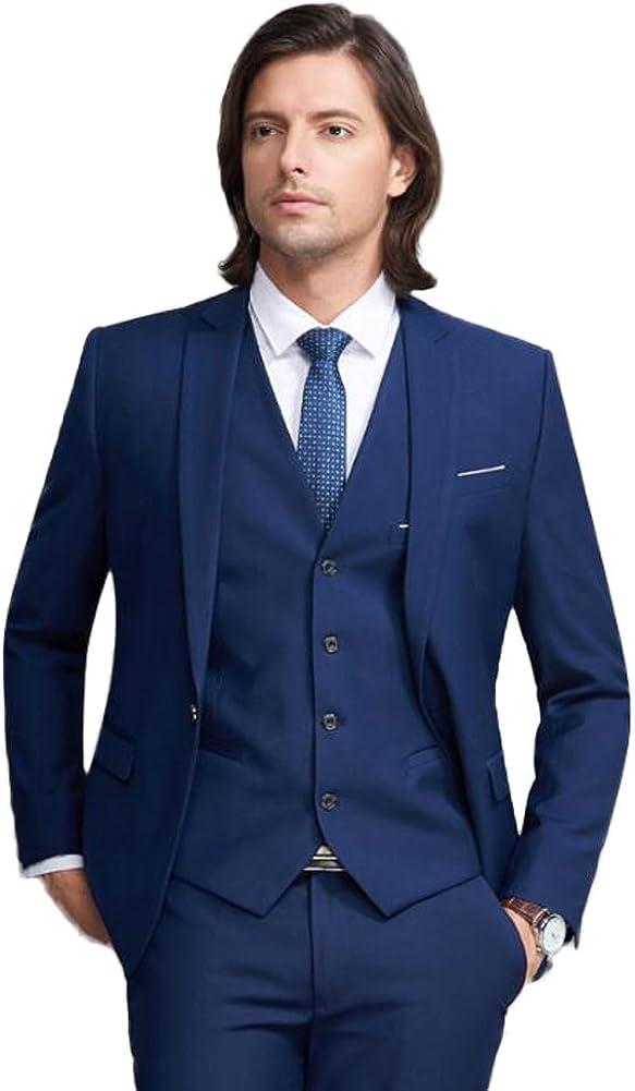 TOPG Men's Suit Slim Fit 3 PC Groom Tuxedos for Wedding Evening Prom Suit for Men