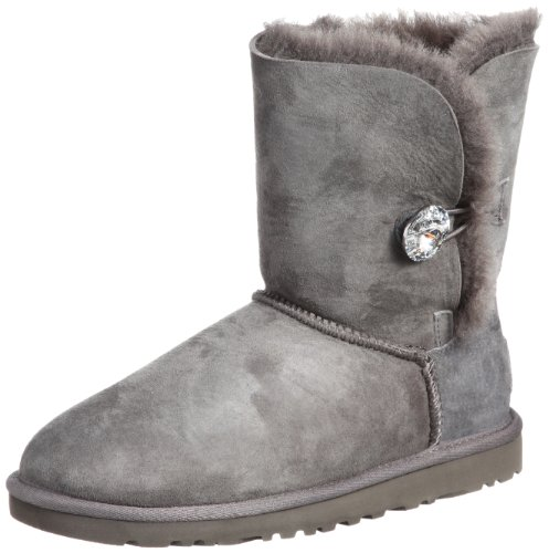 UGG Damen Bailey Button Bling Stiefeletten, Grau (Grigio Grey), 36 EU