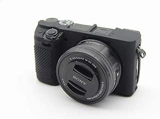 【WDMART】SONY ソニー PEN A6300 A6400 α6300 α6400 ソニーアルファ6300 ソニーアルファ6400 カメラカバー シリコンケース シリコンカバー カメラケース 撮影ケース ライナーケース カメラホルダー、 超薄型 ・ 耐震 ・ 耐衝撃 ・ 耐磨耗性が高い (ブラック)
