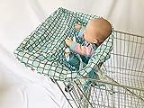 2in1 Qualité rembourré Blue Waves multifonctions 2-in-1 Panier Couverture chaise haute pour bébé Couverture et infantile légère réutilisables housses de siège 906 (Color : Blue squares)