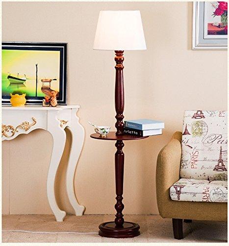 LightSei- Américain Country Floor Lamp Chambre Méditerranée Chambre De Lit Rétro Creative Salle De Séjour Salle De Style Européen Chaud Lampe De Plancher (Couleur : Blanc)