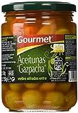 Gourmet - Aceitunas Verdes Manzanilla con Hueso Aliñadas Gazpachas - 420 g