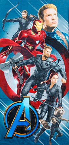 Hilasal Toalla Oficial Marvel Avengers Shield 100% de algodón