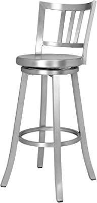 Fashionable Bar Chair European Style Tall Chair Conference Chair Bar Stool Elegant Appearance Front Desk Receives Silver Chair