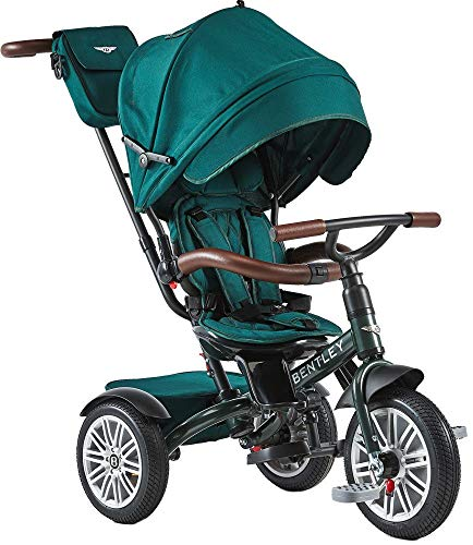 Bentley - Triciclo Evolutivo Licencia Triciclo con Asiento Giratorio y Capota, Incluye Bolso - Triciclo para bebés a Partir de 12 Meses (Spuce Green)