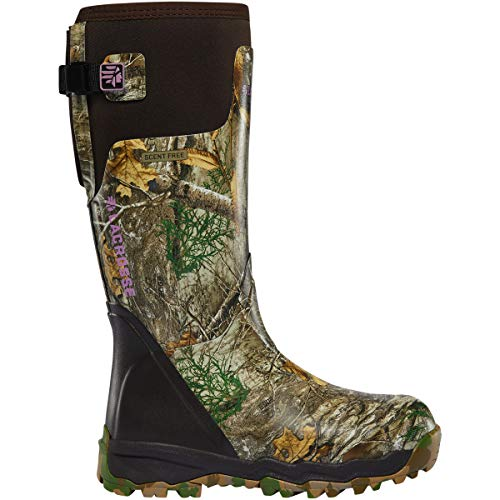 Lacrosse Women's Rubber Boot Hunting Shoe, Realtree Edge
