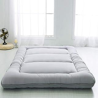Colchón Futon individual, colchón plegable para dormitorio estudiantil, colchón de piso futón, suave y transpirable, alfombrilla de tatami gruesa, gris, 100 x 200 cm