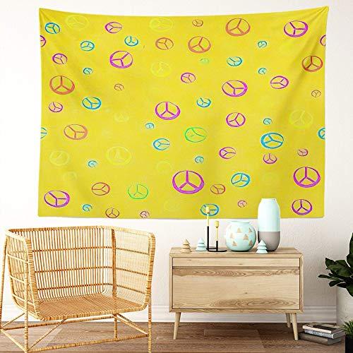 Y·JIANG Tapiz hippie de 60 '70' con textura psicodélica, tapiz decorativo grande para el dormitorio del hogar, manta ancha para colgar en la pared para sala de estar, dormitorio, 152,4 x 127 cm