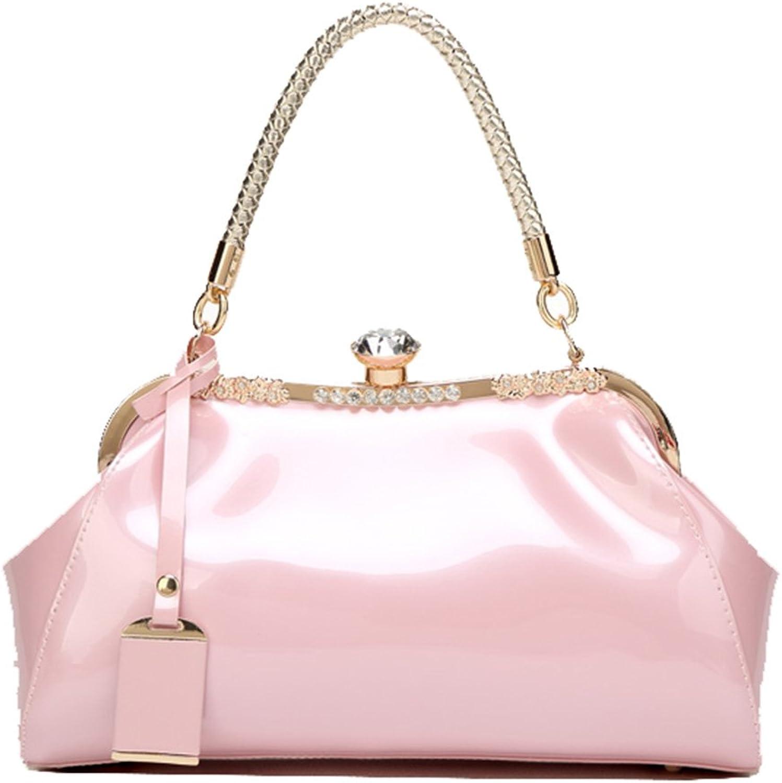 Yan Show Women's Patent Leather Shoulder Bag Handbag Messenger Bag Bride Pack