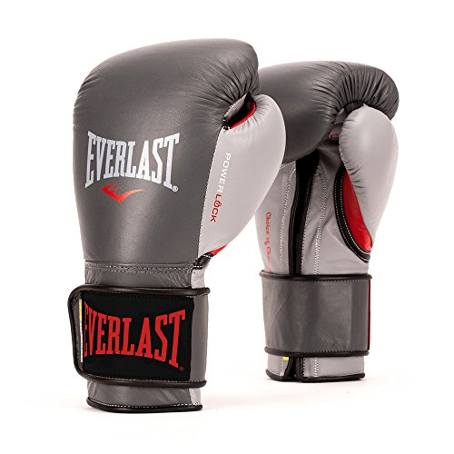 Everlast PowerLock Pro Training Gloves 16oz Grey PowerLock Pro Training Gloves