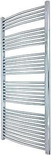 600 mm (w) x 1600 mm (h) - Cromo Curvado Radiador toallero horizontal Diámetro : 22 mm, Bar Modelo: 4 + 5 + 6 + 7 +10