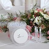 MAVANTO Seifenblasen Hochzeit 64 Stück gefüllt im praktischen Eimer – Wedding Bubbles Set – die perfekte Deko für unvergessliche Momente - 3