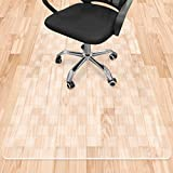 Teamkio Office Chair Mat for Hardwood Floor, 35 x 47 inches, Plastic Office Chair Mat for Tile Floor Rolling Chairs, Desk Chair Mat, Floor Protectors for Office Chairs