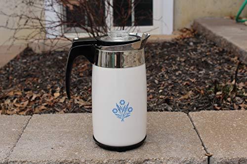 Vintage Corning Ware Cornflower P-80-EP 10-Cup Electric Coffee Percolator