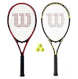 Wilson Federer and Tour set racchette da tennis (2 pezzi) + 3 palline