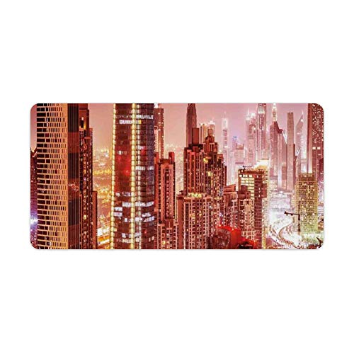 Extended Gaming Mouse Pad with Stitched Edges Waterproof Large Keyboard Mat Non-Slip...
