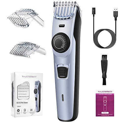 Profi Schnurloser elektrischer Haarschneidemaschine Bartschneider Haartrimmer herren USB Wasserdicht 38 Längeneinstellungen Präzisionstrimmer Barttrimmer und Haarschneider- Langhaarschneider Männer